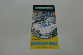 """Scalextric folder 3rd issue """"Race for real"""""""