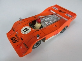 "Porsche Can-Am oranje nr. 11 met opdruk ""COLT"" (spiegels chrome)"