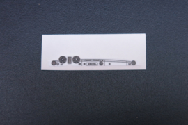 Mercedes sticker t.b.v. dashboard (zwart/wit)