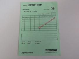 """Voorraadkaart """"Ritzel"""" (DE)"""