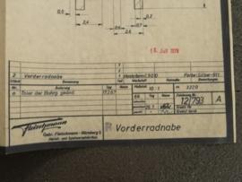 3220 Porsche Carrera 6 velg voor (1) (origineel)