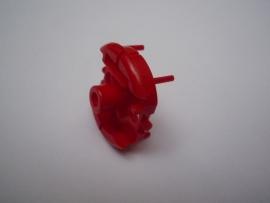 Motordeksel incompleet rood