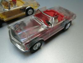 Mercedes 250/280 SL transparant / rood (extreem zeldzaam)