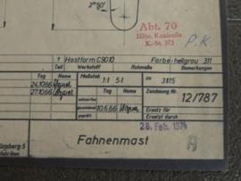 3175 Vlaggenstok (origineel 28-02-1974)