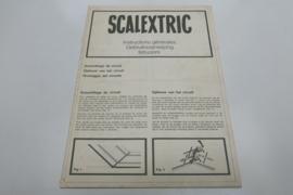 """Scalextric gebruiksaanwijzing """"opbouw van het circuit"""""""