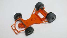 Go-Cart bodem oranje met assen