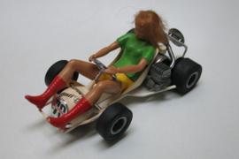 3270 Go-Cart vrouw met echt blond haar nr. 70