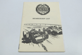 Scalextric Collectors Club, Membership list 1993
