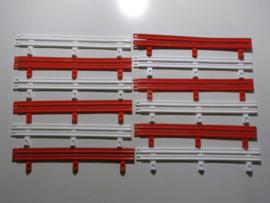 Ninco vangrails rood / wit