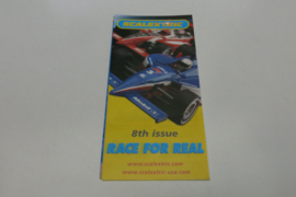 """Scalextric folder 8rd issue """"Race for real"""""""