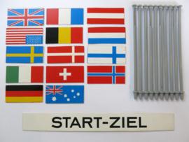 Vlaggenset met Start - Ziel