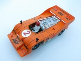 3203 Porsche Can-Am oranje nr: 2 (spiegels zwart, gestempeld)