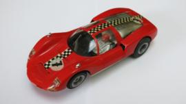 Porsche Carrera 6 rood nr. 7 (gestempelde bodem) (sturende vooras)