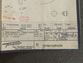3209 / 3210 Ford Lotus velg achter (origineel 30-07-1981)