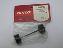 Ninco vooras 63 mm. 5 spaaks velgen grijs