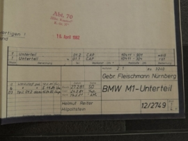3240 - 3241 BMW M1 bodem (origineel)