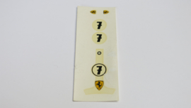 Ferrari F1 decals