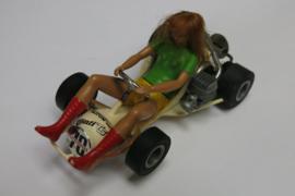 3270 Go-Cart vrouw met echt donker blond haar nr. 70