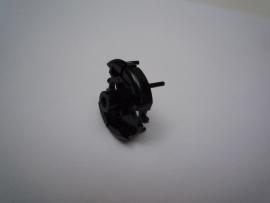 Motordeksel incompleet zwart