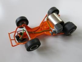 Go-Cart bodem oranje compleet met assen, motor, motorblokje, sleper