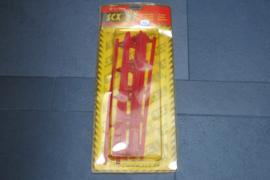 SCX baandelen, slipstroken en vangrails