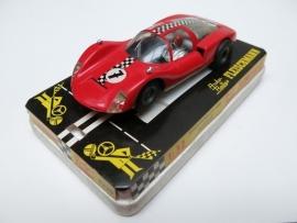 3220 Porsche Carrera 6 rood nr. 7 (sturende vooras)