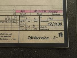3182 Tellerschijf (origineel)