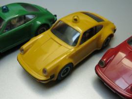 Porsche 911 Rijkspolitie/Polizei geel (extreem zeldzaam)
