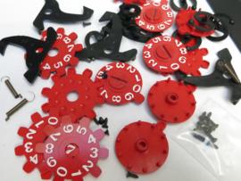 Teller reparatieset (diversen) (tellers rood)