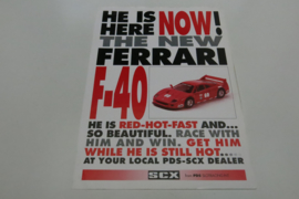 SCX folder Ferrari F40 from PDS Slotracing