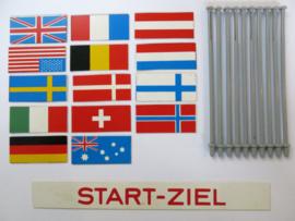 Vlaggenset met Start - Ziel (gebruikt)