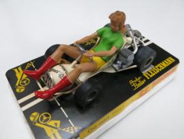 3270 Go-Cart vrouw met donker blond haar (nieuwstaat, gestempeld)