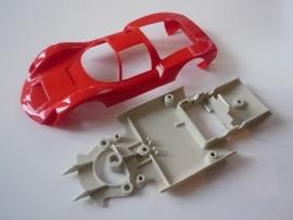 Porsche Carrera 6 bodem + kap rood