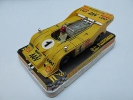 3202 Porsche Can-Am nr. 1 geel (spiegels chrome, gestempeld)
