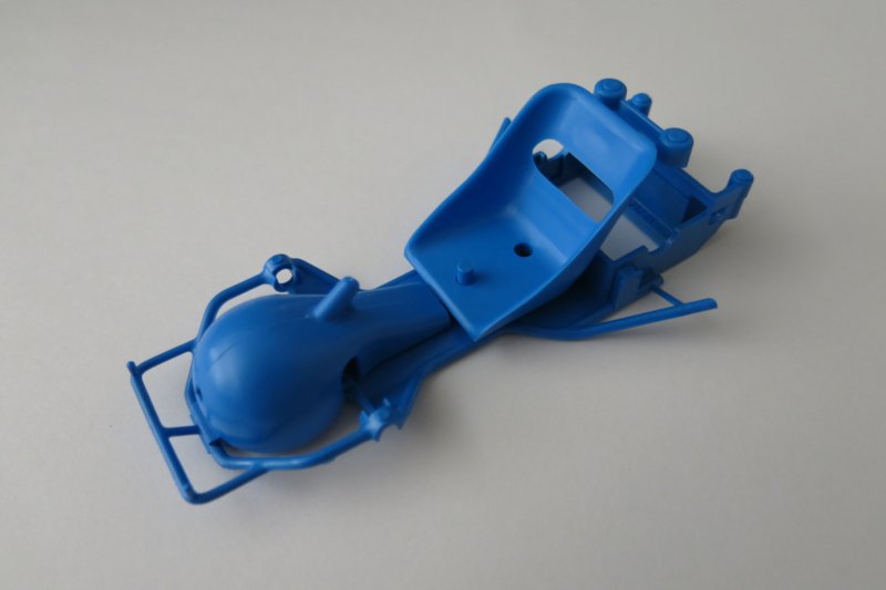 Go-Cart bodem, stoel en tank blauw (zie tekst)