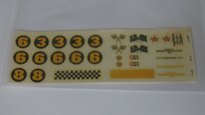 Ford Lotus decals (compleet)