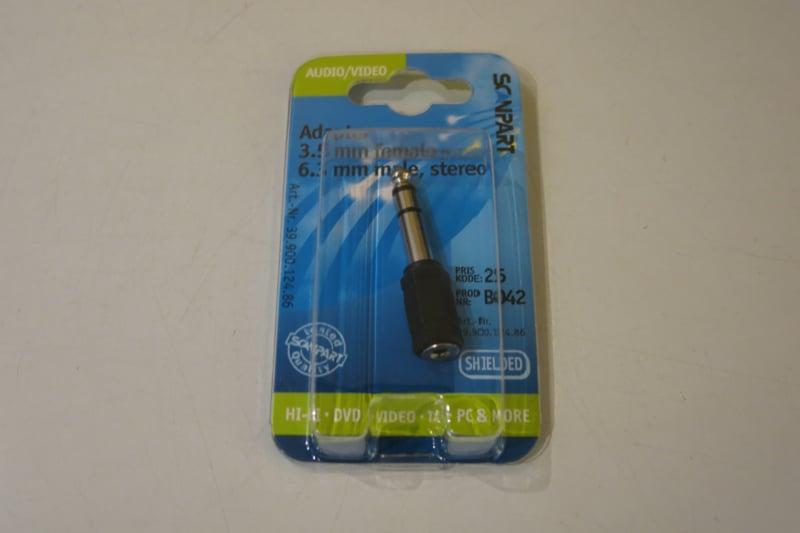 Scanpart adapter jack 6.35 - 3.5