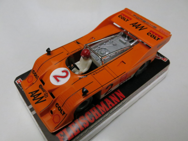3203 Porsche Can-Am nr. 2 oranje (spiegels zwart) (gestempeld)