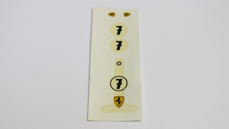 Ferrari F1 decals