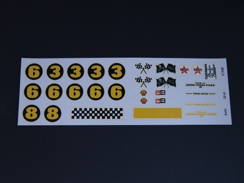 Ford Lotus decals (complete set)