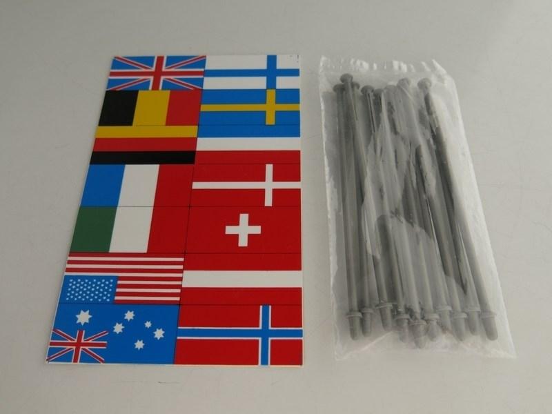 Vlaggenset (kaart en vlaggenstokken)