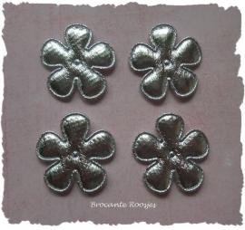 (BLd-043) 4 bloemen - zilver - 25mm
