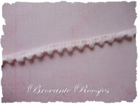 (BO-011) Mini bolletjesband - pastel roze