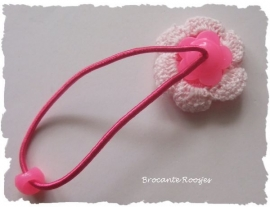 Haar-elastiekjes met flatback of bloem