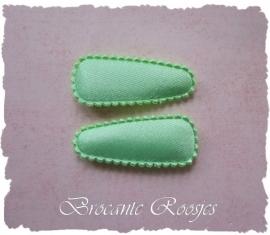 (HOBe-014) 2 hoesjes - baby - satijn - mint groen
