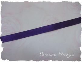 (SA-030) Satijn lint - paars - 10mm