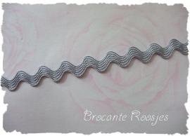(Z-016) Zigzagband - grijs