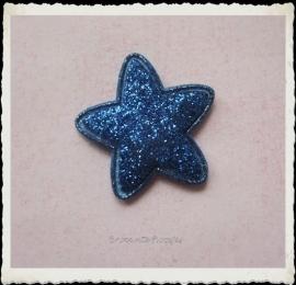 (Ster-034) Ster - glitter - royal blue - 25mm