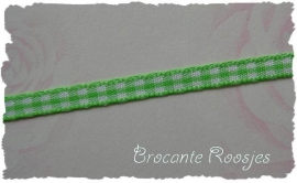(RU-009) Ruitjesband - lime - 5mm