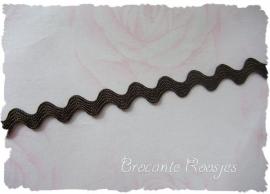 (Z-014) Zigzagband - bruin